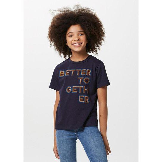 Camiseta Infantil Manga Curta Tal Pai Tal Filho Masculino - Azul