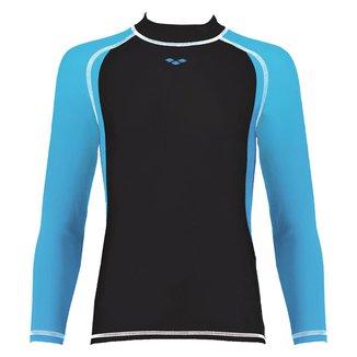 Camiseta Infantil Manga Longa Arena Carbon UV Unissex