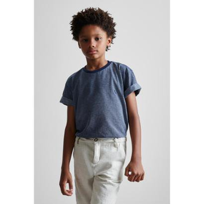 Camiseta Infantil Maquinetada Pois New Reserva Mini Masculina