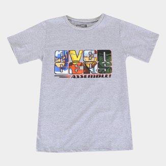 Camiseta Infantil Marvel Avengers Masculina