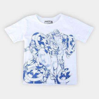 Camiseta Infantil Marvel Capitão América Masculina