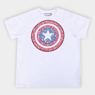 Camiseta Infantil Marvel Capitão America Shield Masculina