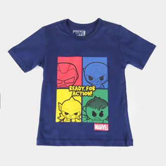 Camiseta Infantil Marvel Ready For Action Masculina