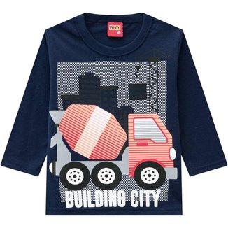 Camiseta Infantil Masculina Kyly Meia Malha 207426.4372.8 Kyly