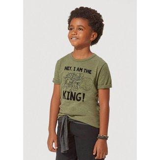 Camiseta Infantil Masculino Flamê Com Estampa Nintendo Hering Kids