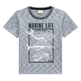 Camiseta Infantil Milon Fundo do Mar Masculina