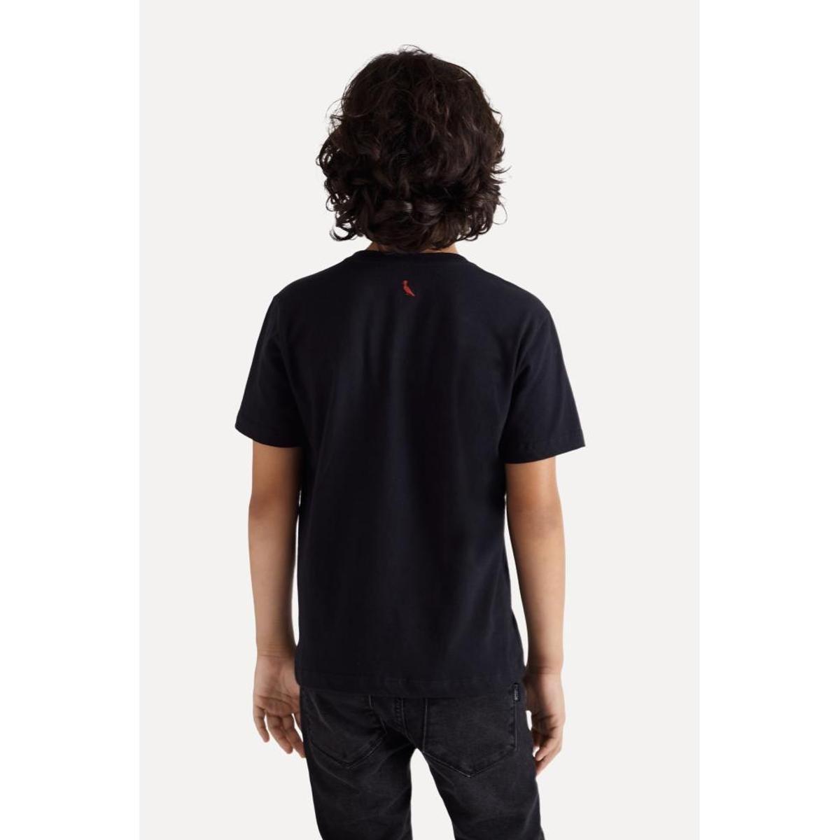 Camiseta Infantil Mini Sm Silk Rock Save Reserva Masculina - Preto