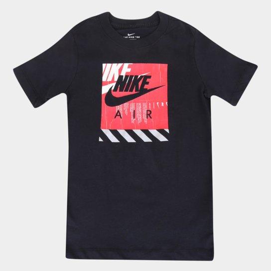Camiseta Infantil Nike Manga Curta Nsw Tee Shoebox Masculina - Preto