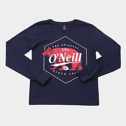Camiseta Infantil O'Neill Manga Longa Estampa Urso Masculina