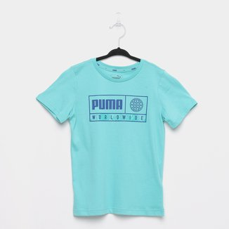 Camiseta Infantil Puma Alpha Graphic Masculina