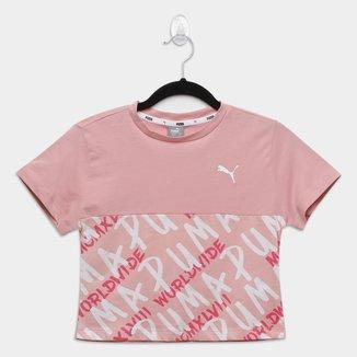 Camiseta Infantil Puma Alpha Graphics Aop Feminina