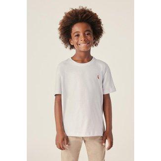 Camiseta Infantil Reserva Mini Brasa Pica-Pau Bordado Masculina