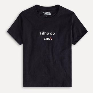 Camiseta Infantil Reserva Mini Filho Do Ano Masculina