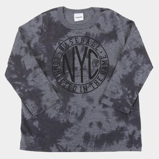 Camiseta Infantil Rovitex Tie Dye Manga Longa Masculina