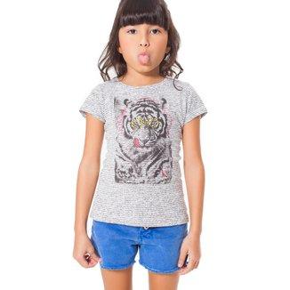 Camiseta Infantil Tigre Reserva Mini Feminina