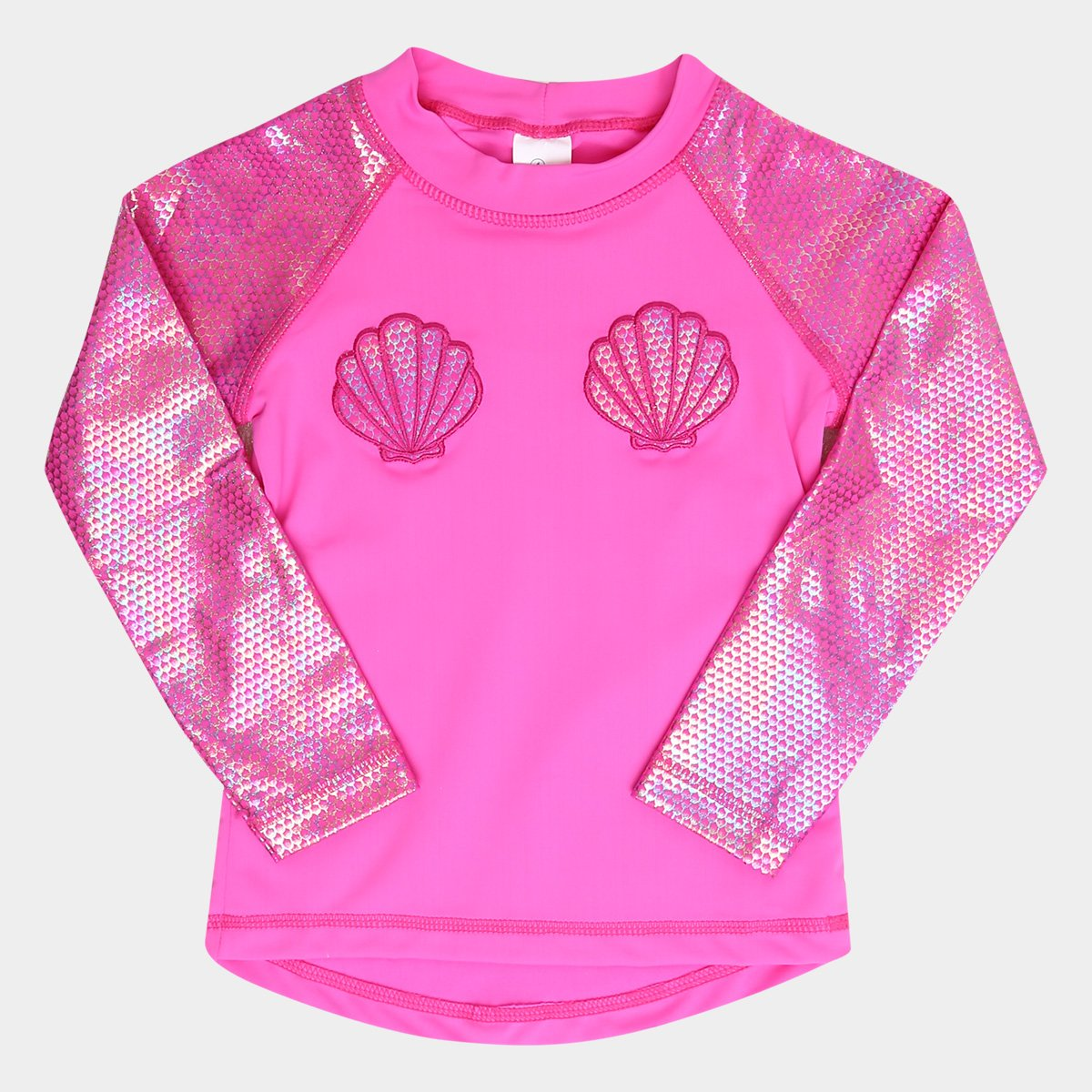 f00f0d5304 Camiseta Infantil Tip Top Moda Praia Sereia FPS+50 Feminina - Pink ...
