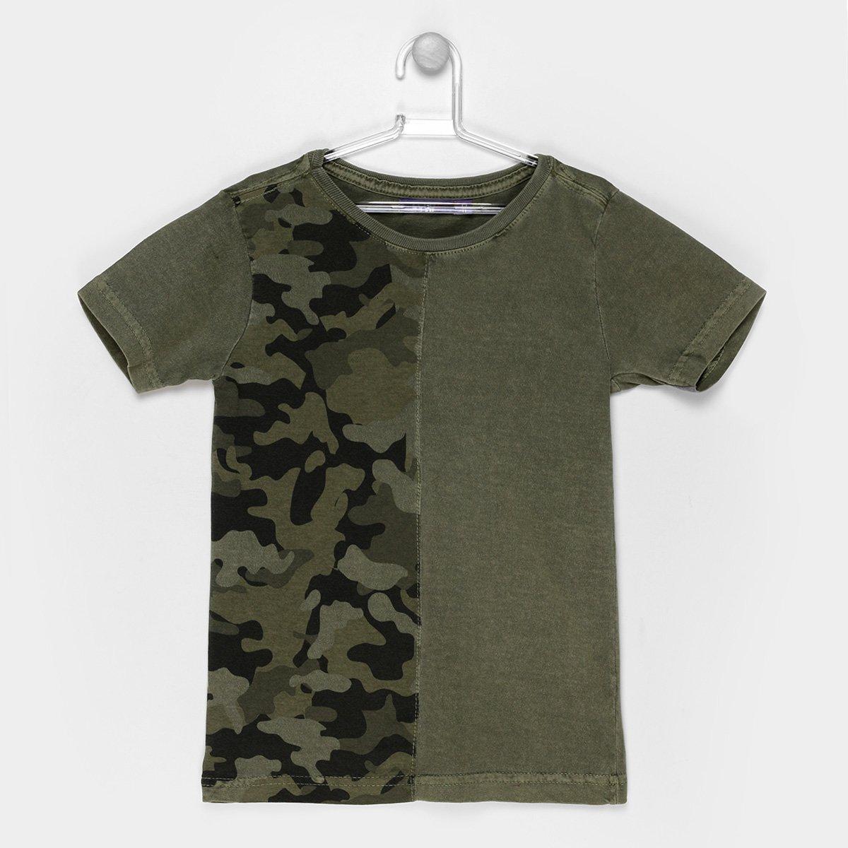 Camiseta Infantil Zeep! Camuflada Masculina - Compre Agora  e7777813da0