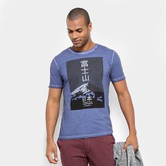 Camiseta JAB Estampa Montanha Masculina