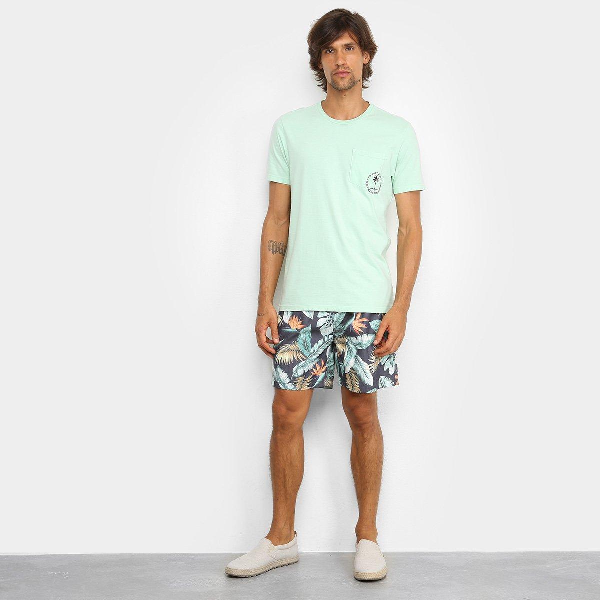 Camiseta JAB Estampada Masculina - Verde