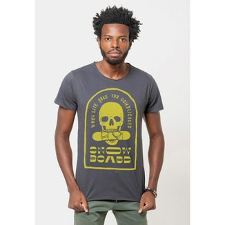 Camiseta Joss Corte a Fio Snowboard Masculina