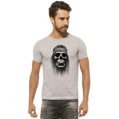 Camiseta Joss Estampada - Caveira Bandana - Masculina