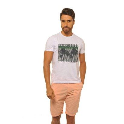 Imagem de Camiseta Joss New Coqueiros Geometricos Masculina