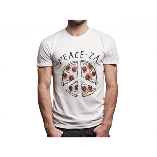 Camiseta Joss Peace-za Masculina - Branco