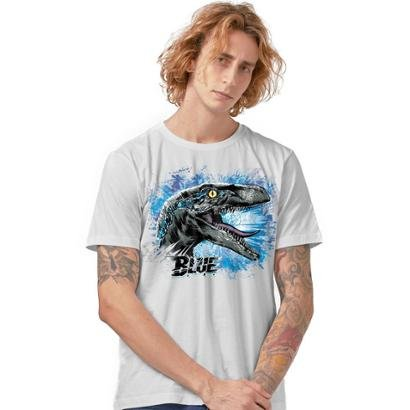 Camiseta Jurassic World Blue Masculina