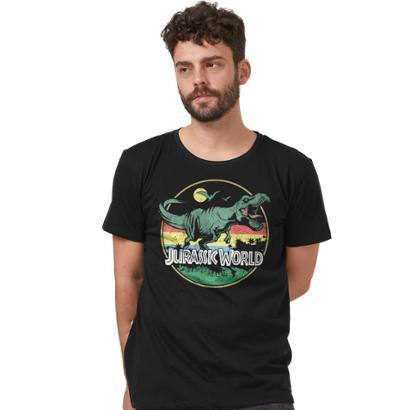 Camiseta Jurassic World T.Rex Vintage Masculina
