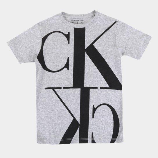 Camiseta Juvenil Calvin Klein CK Masculina - Mescla