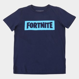 Camiseta Juvenil Fortnite Logo Masculina