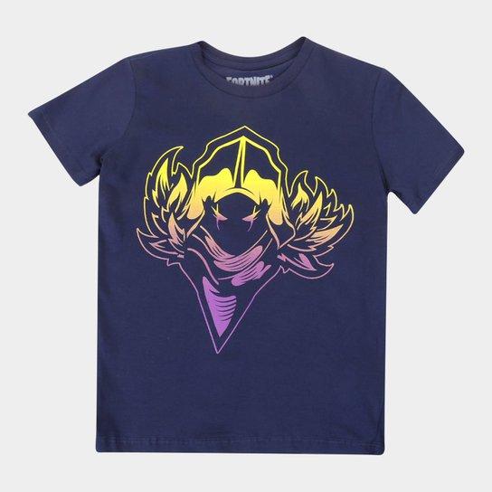 Camiseta Juvenil Fortnite Raven Masculina - Marinho