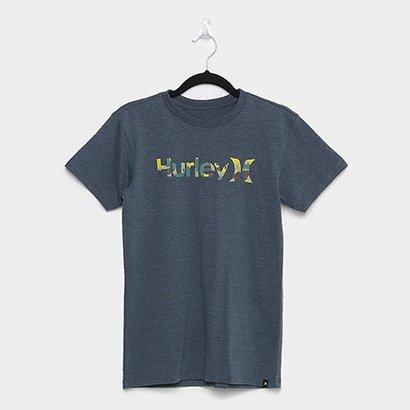 Camiseta Juvenil Hurley O&O Camuflada Masculina