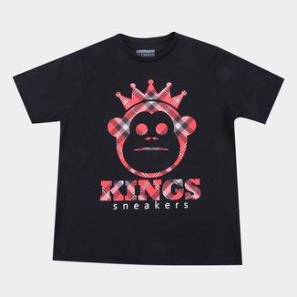Camiseta Juvenil Kings Sneakers Masculina