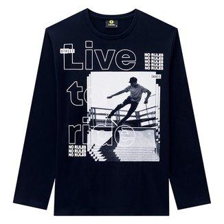 Camiseta Juvenil Lemon Skate Manga Longa