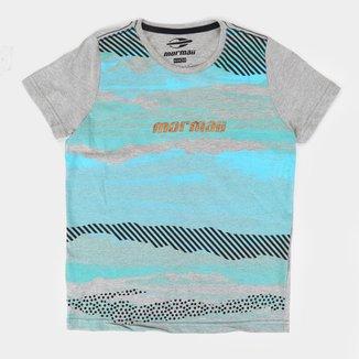 Camiseta Juvenil Mormaii Botone Estampada Masculina