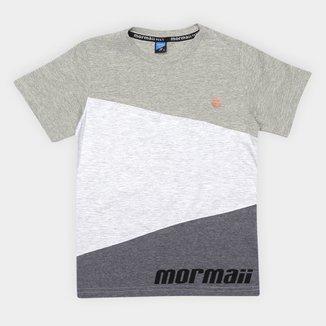 Camiseta Juvenil Mormaii Tricolor Masculina