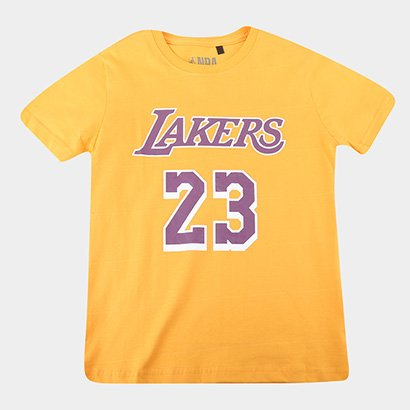 Camiseta Juvenil NBA Los Angeles Lakers 23 Masculina