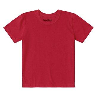 Camiseta Juvenil Rovitex Meia Malha Básica Masculina