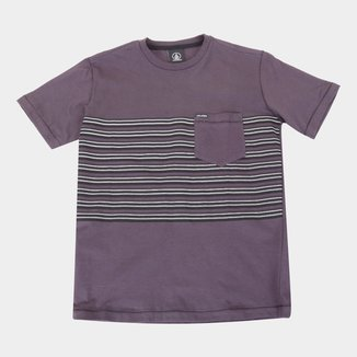 Camiseta Juvenil Volcom Forzee Bolso Masculina
