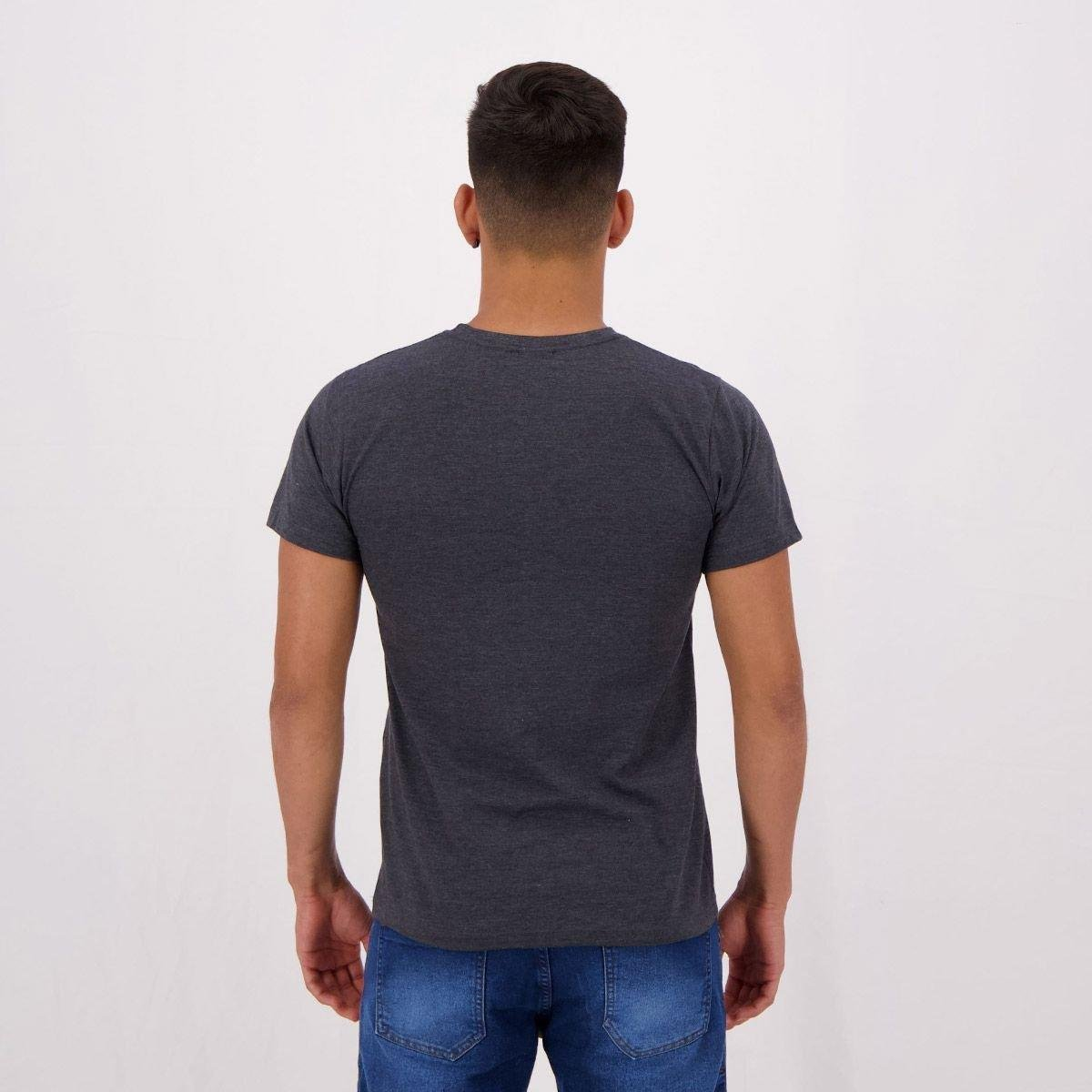 Camiseta Kappa Founded Year Masculina - Cinza