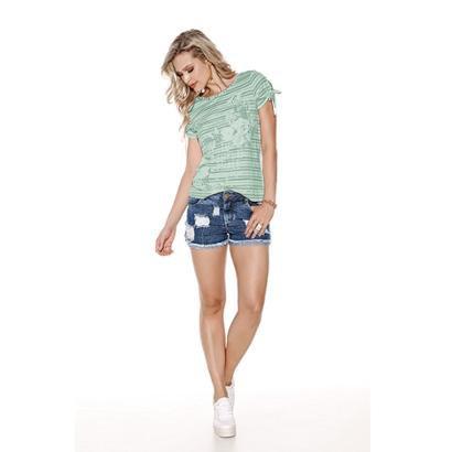 Camiseta Knt T-Shirt Estampada-Feminino