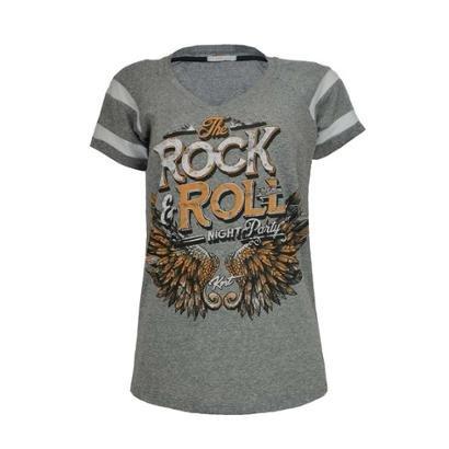 Camiseta Knt    T-Shirt Rock-Feminino