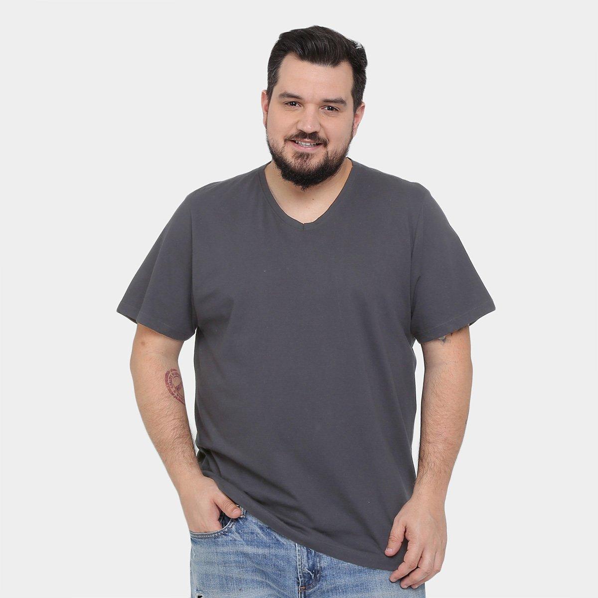481d9ea00 Camiseta Kohmar Plus Size Gola V Básica Masculina | Zattini