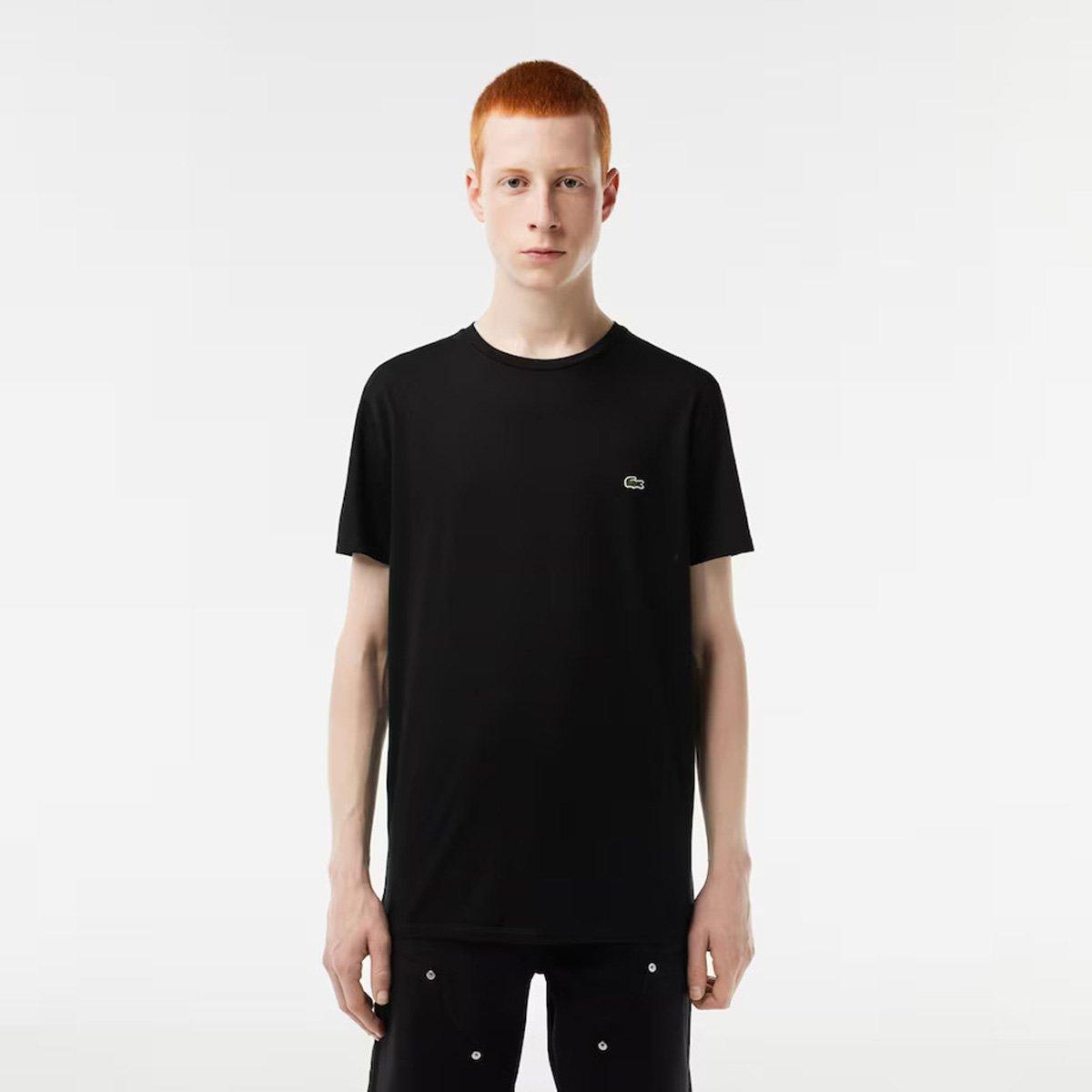 154655421f4 Camiseta Lacoste Básica Jersey Masculina