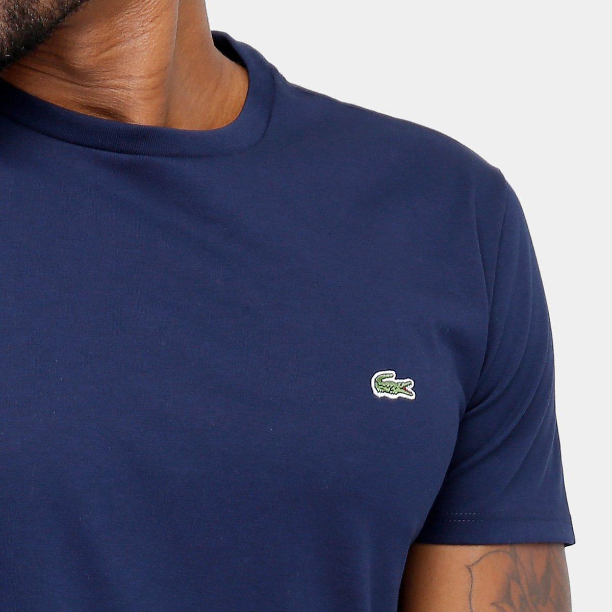 2b19306920ef2 Camiseta Lacoste Básica Jersey Masculina - Marinho - Compre Agora ...