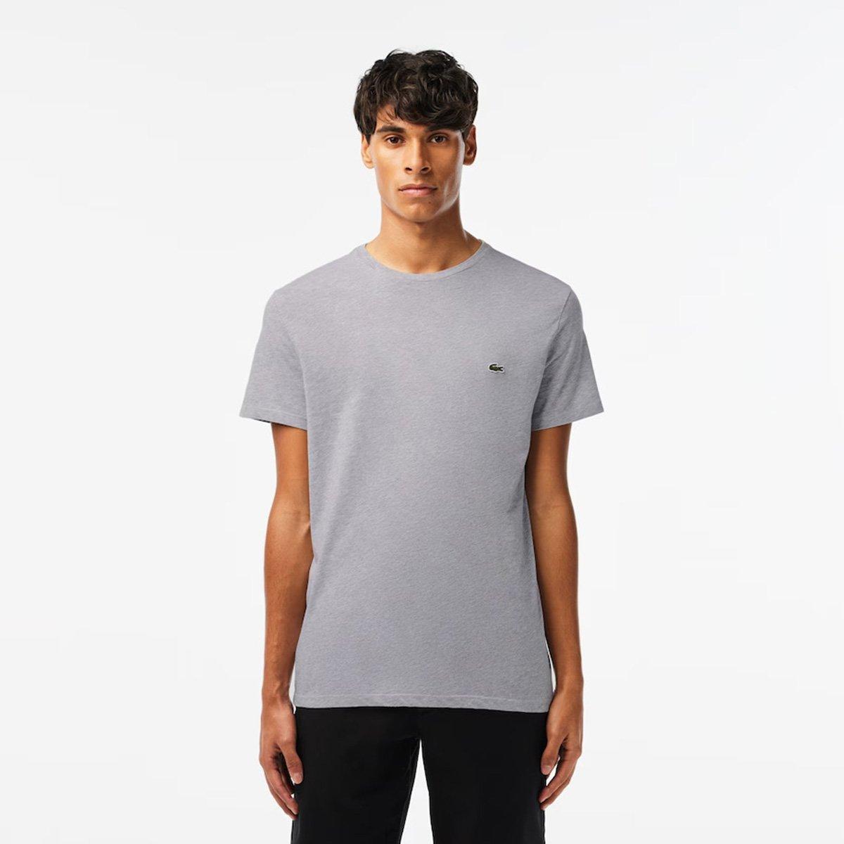 6a7312eb54ef1 Camiseta Lacoste Básica Jersey Masculina