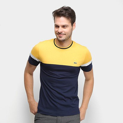Camiseta Lacoste Bicolor Masculina