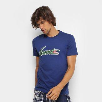 Camiseta Lacoste Gola Careca New Logo Masculina