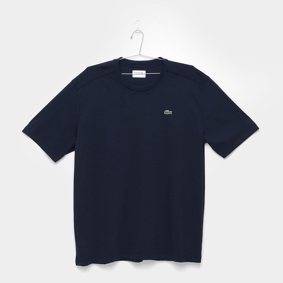 aefecc733335f Camiseta Lacoste Gola Careca - Marinho - Compre Agora   Zattini